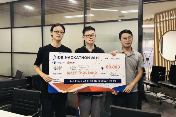 1st place of TiDB Hackathon 2019
