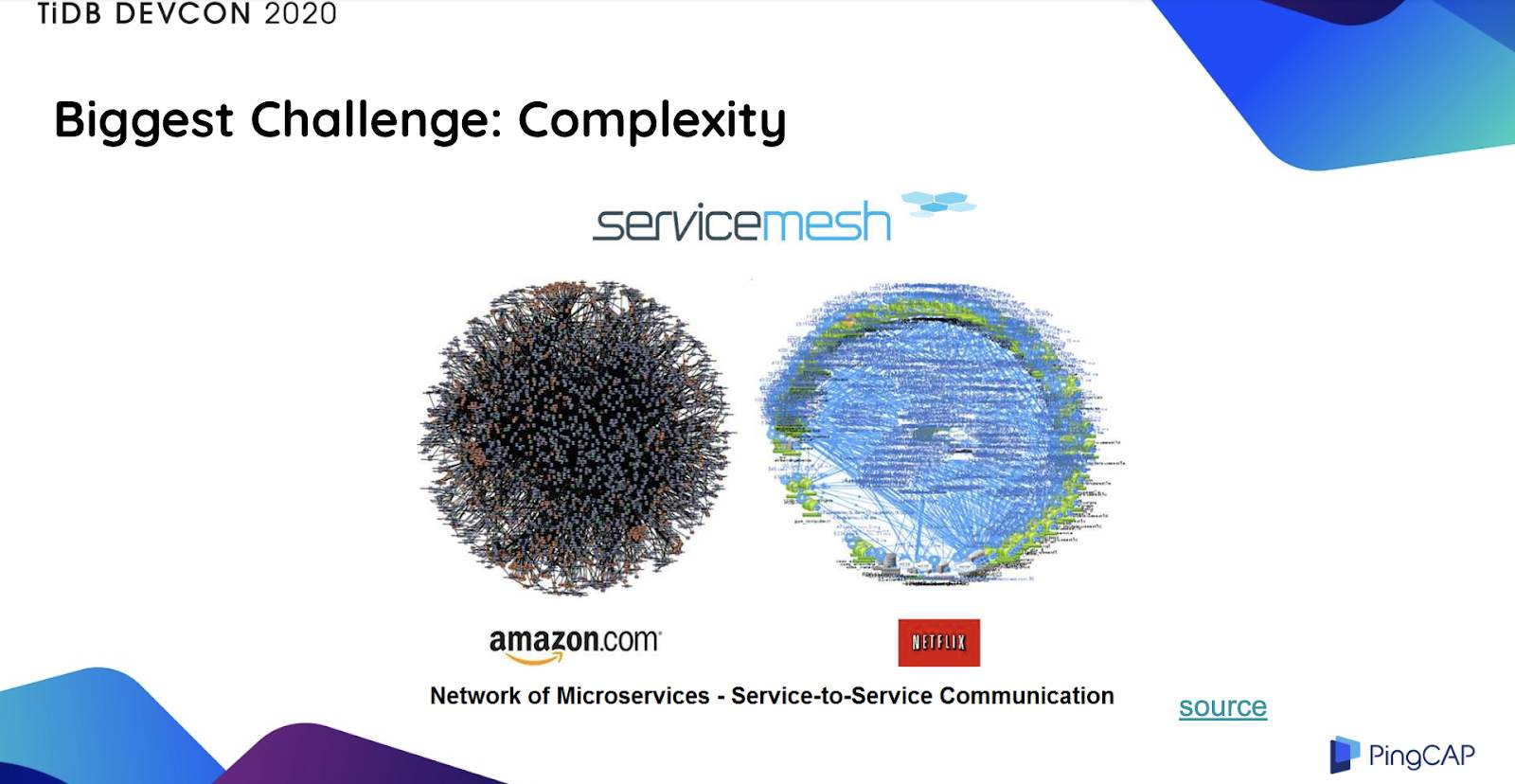 Amazon's and Netflix's microservices