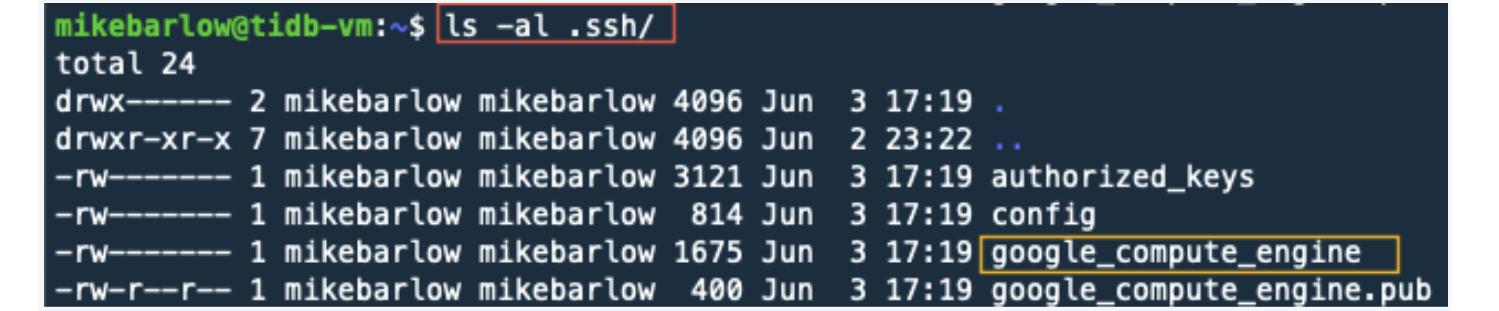 Check SSH keys