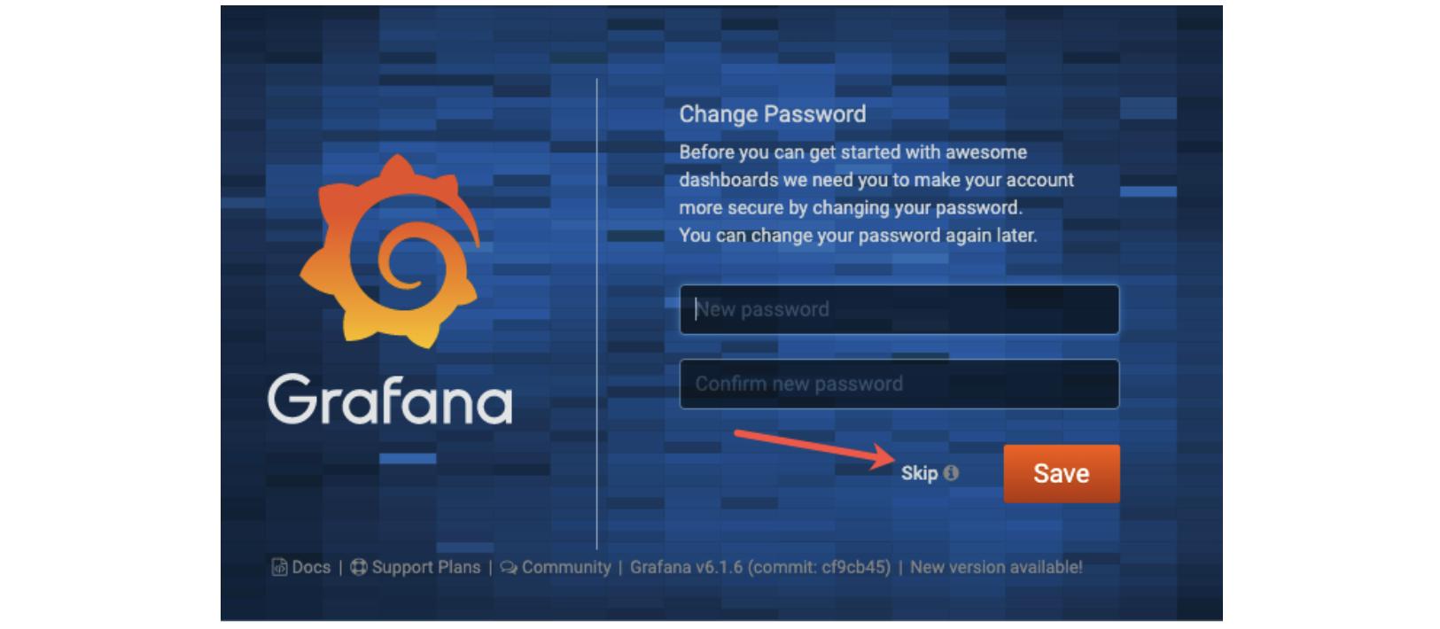 Grafana Change Password