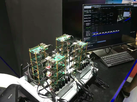 TiDB running on a Raspberry Pi cluster with 20 nodes