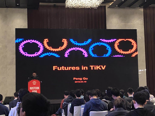 Qu Peng, TiKV team engineer, at RustCon Asia