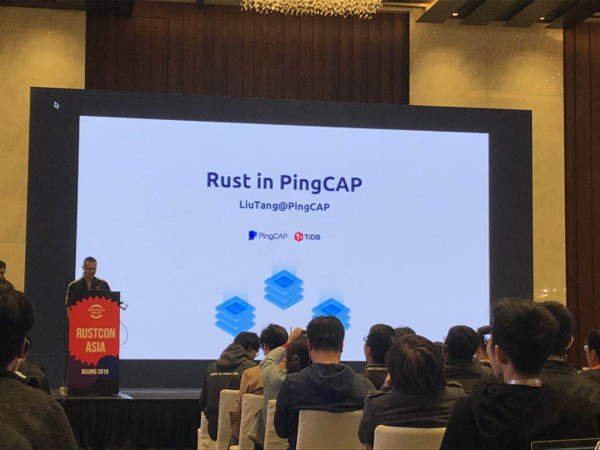 Siddon Tang, Chief Engineer and TiKV team lead at PingCAP, at RustCon Asia