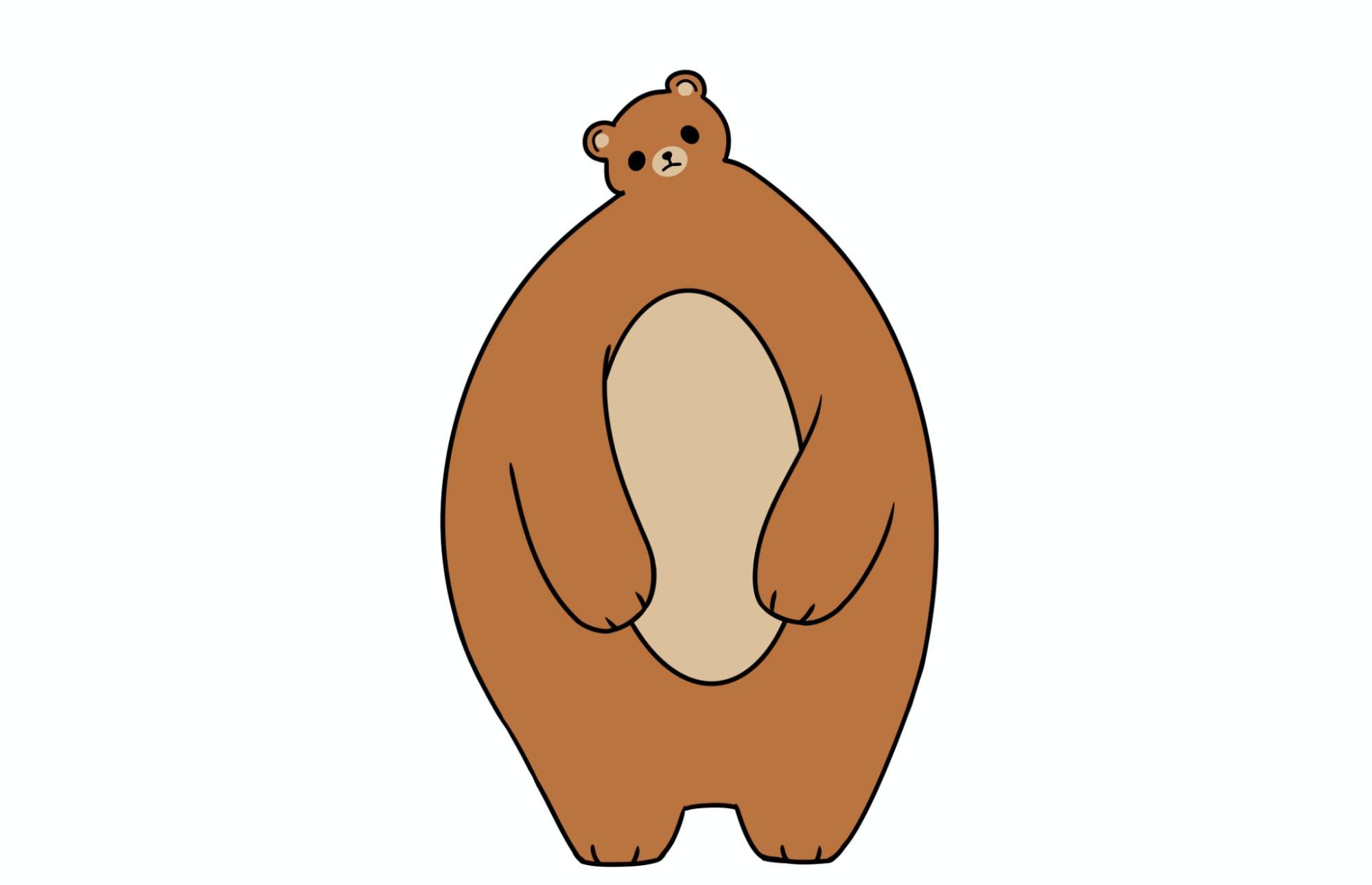 A tiny-headed bear