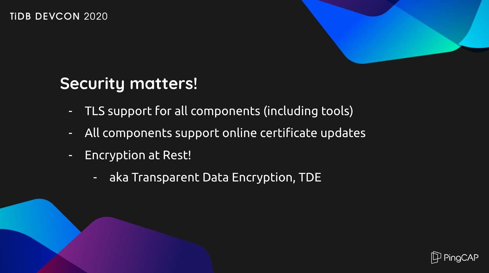 TiDB security
