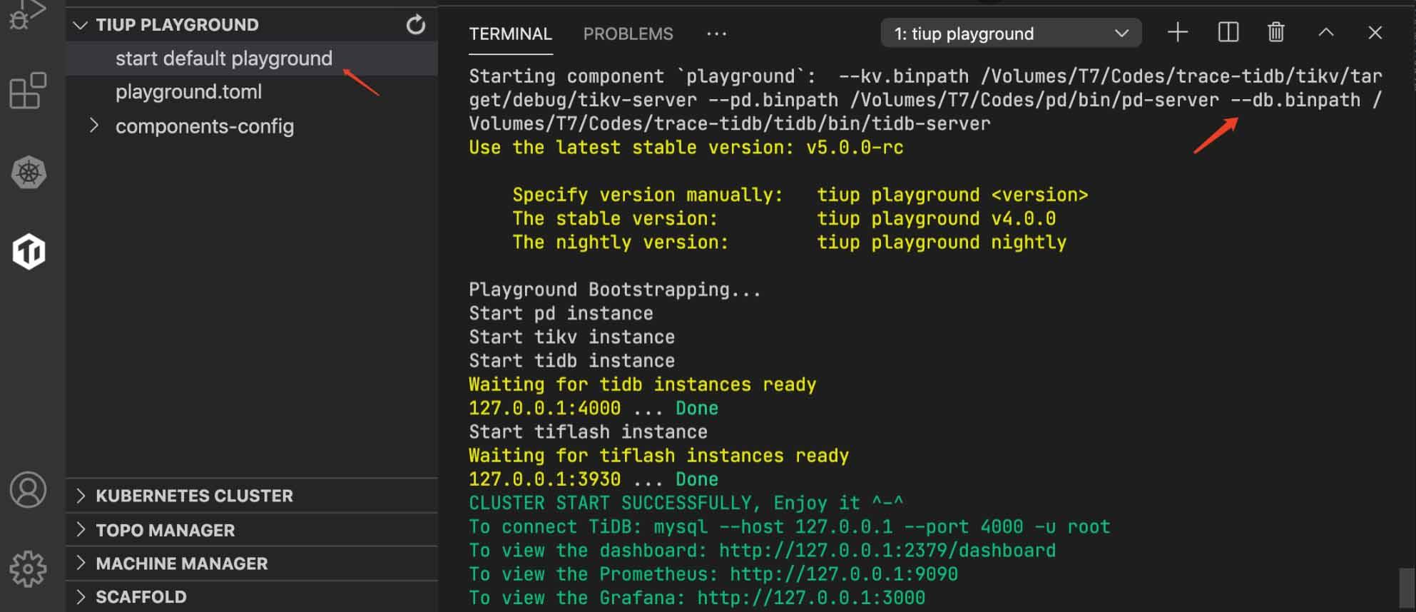 Deploy a testing cluster in TiDE