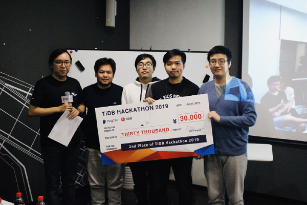 2nd place of TiDB Hackathon 2019