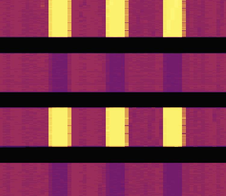 X 轴明暗交替