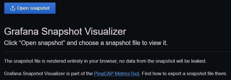 MetricsTool Visualizer 截图