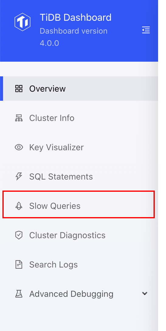 Access slow query page