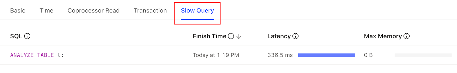 Slow Query