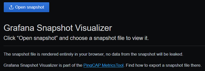 Screenshot of MetricsTool Visualizer